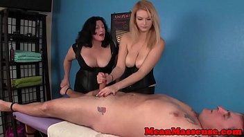 domination handjob cum fast Mom and daughter lesbean