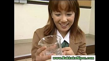 japanese burse cum Blonde teen in stocking and opera gloves porn4