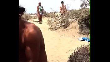 stranger beach public Primero anal con su novia dormida