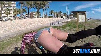 stranger public beach Tickling cock heads