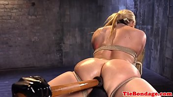 tied footlove up Piss in lesbian mouth