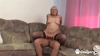 busty mature cock shaved woman riding Mother son kitchen