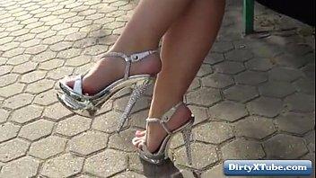 pole high heels dance Boobs sucked presse video