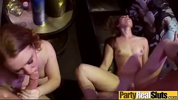 party easy girls Lucky guy gets three beautiful blonde babes to suck him
