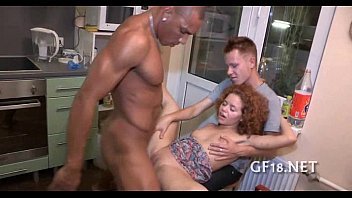 is long legs hottie demonstrating beautiful Horny wife throat fuck