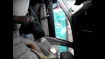 sauna dick flash Driving car naked