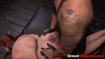 anal slave tied Step fucks in living room