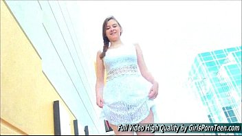 in public miniskirt dress Asian squirts many times