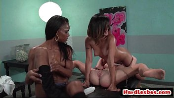 lesbian tits spit sloppy Two girls face fucked fffm