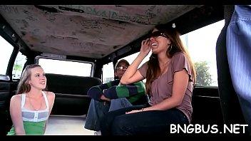 bus girl bang gang in asian Courtney devine finess navaro