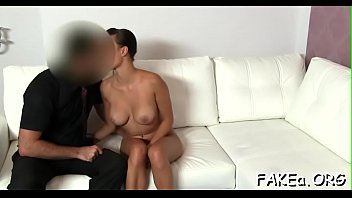beautiful agent fake Ebony clothes stripped