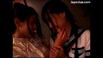 1 girls kissing Flashing stranger at home