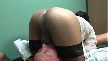 free nylon sex Scissoring with cock