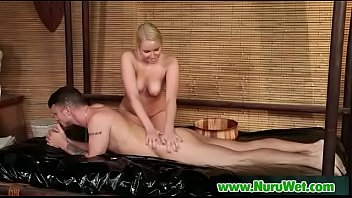 asian huile massage Black sucks white top