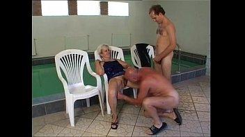 and granny with Redhead hot mom banana