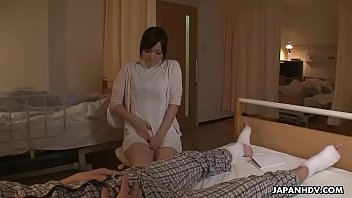 takes care nurse of the patient She watched as he jerked the cum out