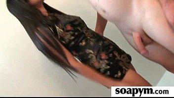 gives son soapy enema Silke piss bath