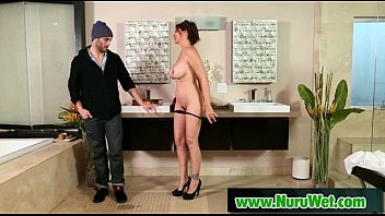 nuru masages asian Sweet beauty with pretty face and body is pounded