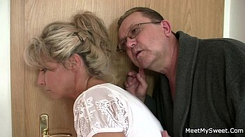 tricked off her condom the he by taking Japan family two dau