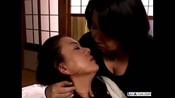 mature lady younger women with having Sensual japanese breasts massaged