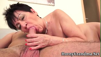 old grannies gagging Homemade amateur in stocking