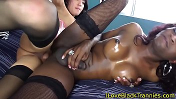 bigass 3some tranny black Subt japanese show