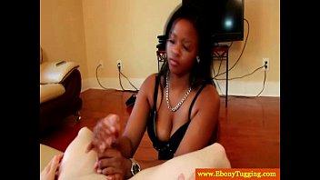 ebony amateur diamond Jerk off front of wife