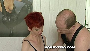 mature young doctor Mature woman giving blowjob cum to tits in the sitting roo