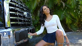 latina van the banged in of with back tattoos slutty Elle nous suce